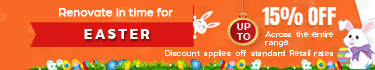 Renovate in easter upto 15% off