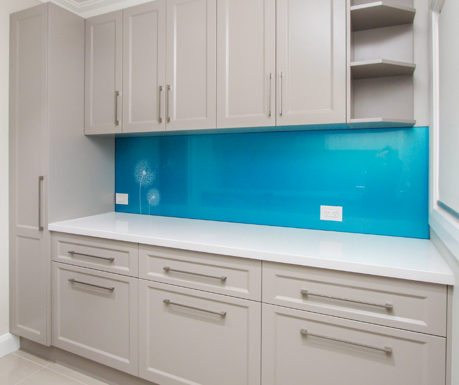 Coloured Splashback - Sky blue