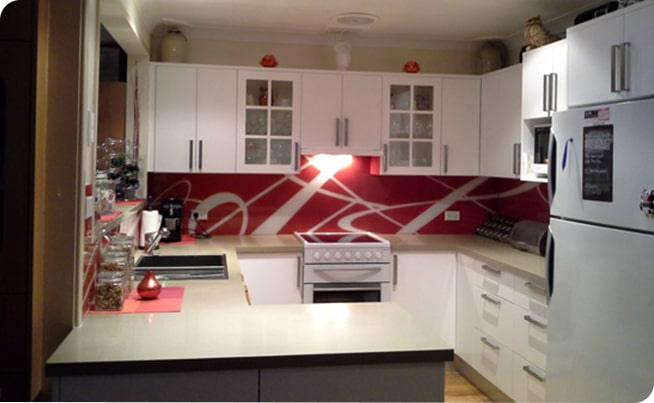 Designed kitchen glass splashbacks