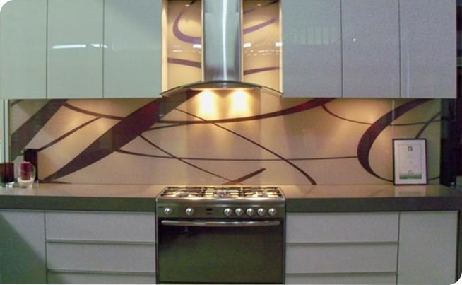 Designed kitchen splashbacks