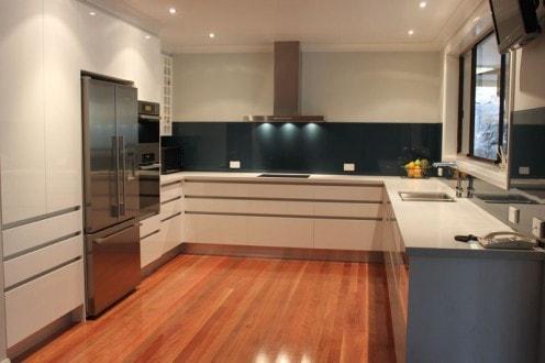 Coloured Kitchen Glass Splashback