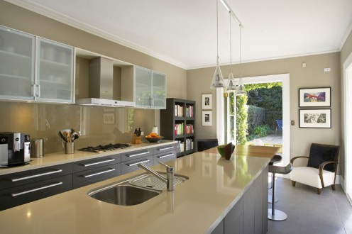 Coloured Kitchen Splashback